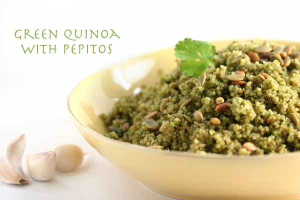 Green Quinoa with Pepitos
