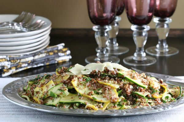 summer squash & red quinoa salad - buffet