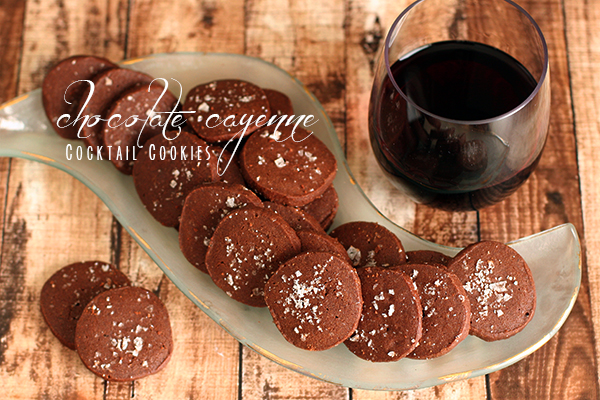 chocolate cayenne cocktail cookies