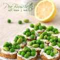 pea bruschetta with lemon and mint