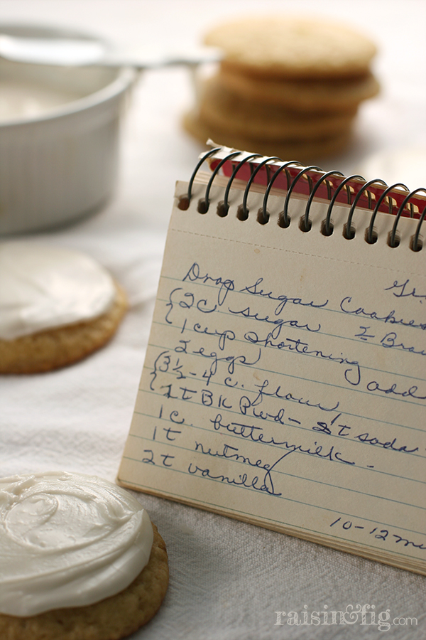 drop sugar cookies recipe card