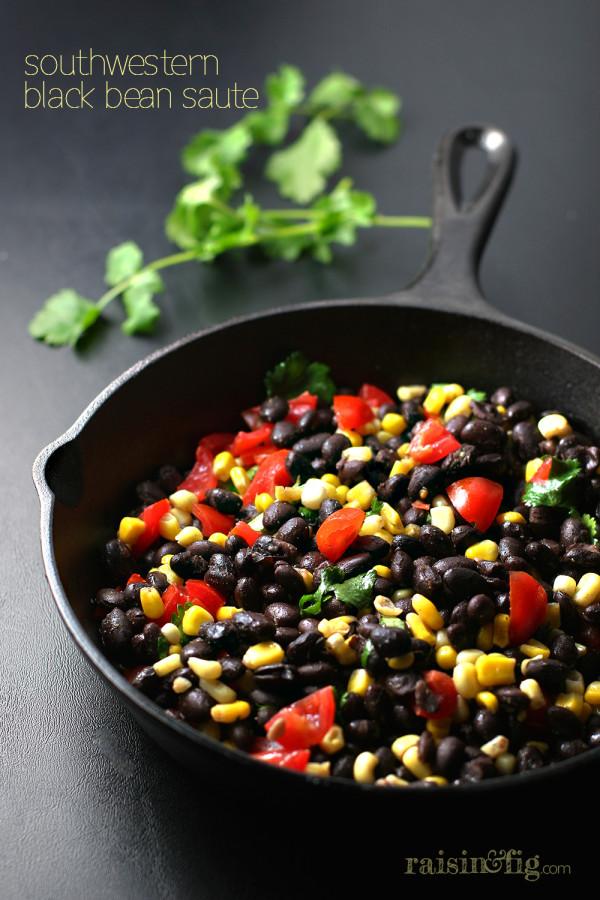 southwestern black bean saute