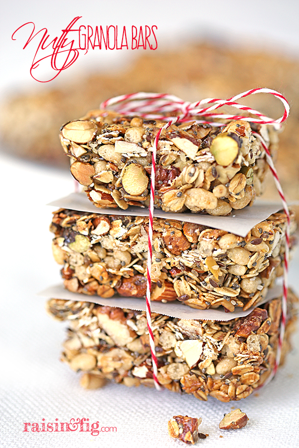 nutty granola bars