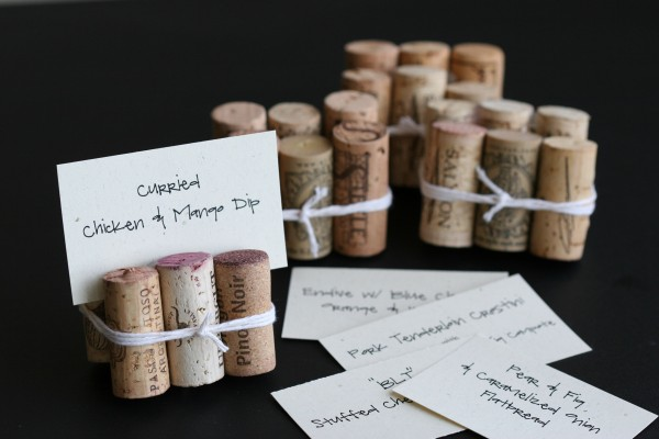 placecards - corks and cards