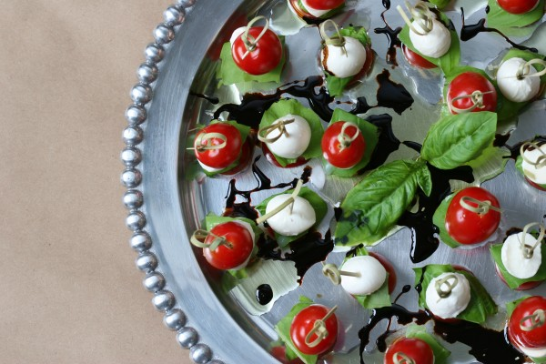 caprese salad on a stick - from above