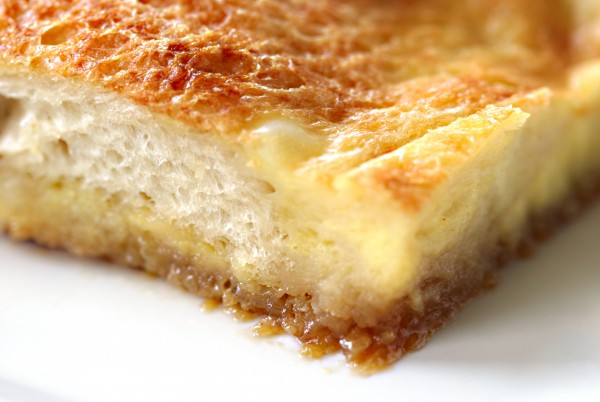 creme brulee french toast - extreme closeup