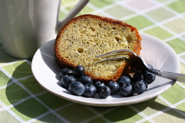 poppy seed cake - closeup
