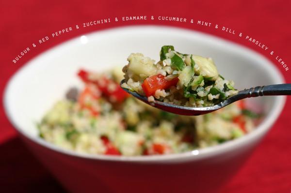 bulgur salad with edamame