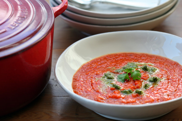 red pepper soup - 1