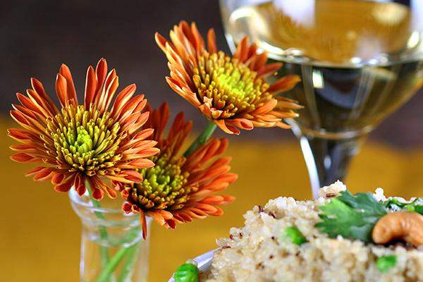 indian dinner - flowers