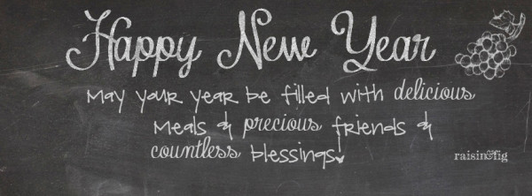 FB cover - chalkboard happy new year