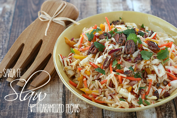 santa fe slaw with caramelized pecans