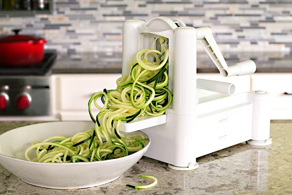 zucchini pasta in spiralizer