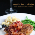 prairie home chicken apple cranberry sauce