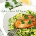 chicken with lemon leek linguine