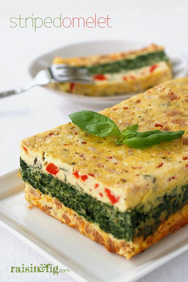 striped omelet
