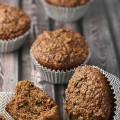 whole grain bran muffins