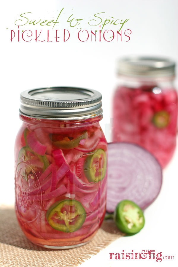 sweet spicy pickled onions