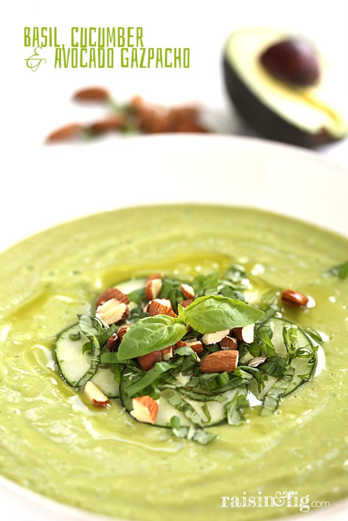 basil cucumber avocado gazpacho