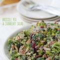 broccoli pea and cranberry salad