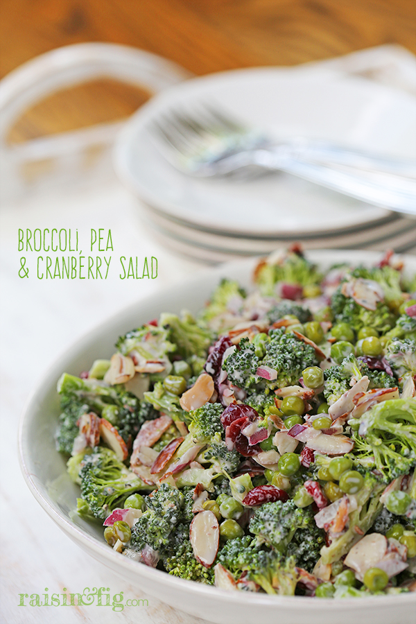 broccoli pea and cranberry salad